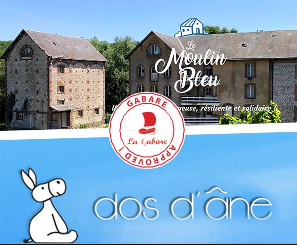 Le Moulin Bleu et Dos d'Ane rejoignent la Gabare.